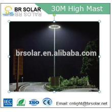 seaport palaza 1000W HPS high pressure sodium flood light high mast lighting with winch telescopic mast